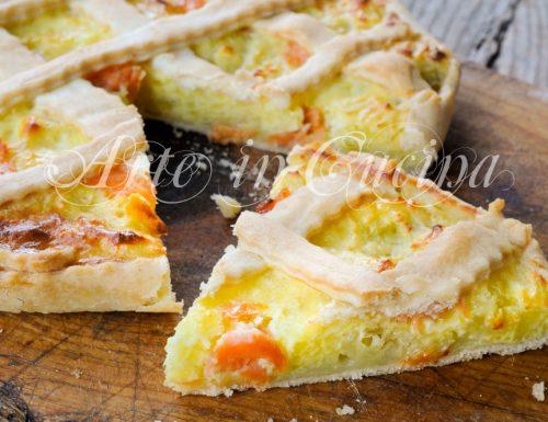 Torta salata con salmone e patate ricetta veloce