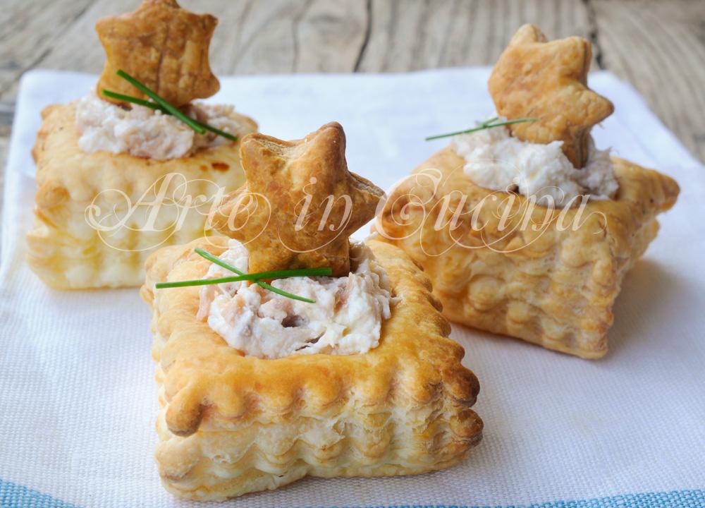 Vol au vent con tonno e philadelphia ricetta facile vickyart arte in cucina