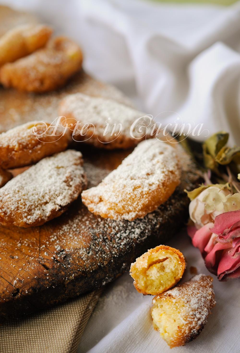 Calzoncini dolci napoletani alla ricotta veloci vickyart arte in cucina