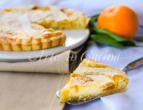 Crostata con mascarpone e marmellata di arance