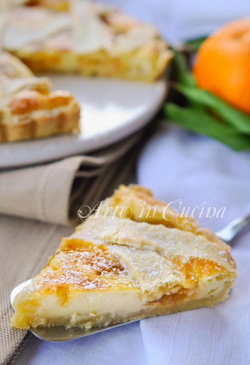 Torta con ricotta mascarpone e marmellata