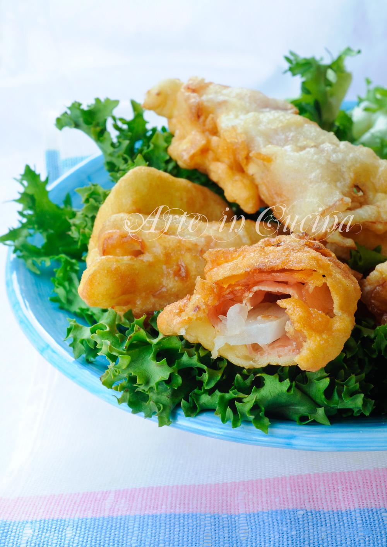 Finocchi fritti in pastella con prosciutto veloci vickyart arte in cucina