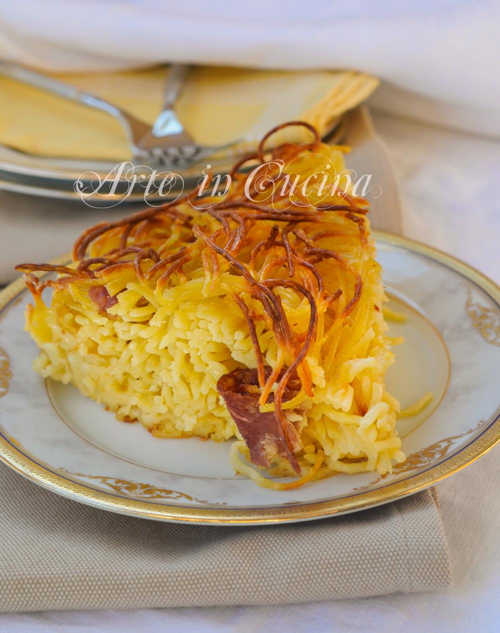 Frittata di spaghetti al forno ricetta facile vickyart arte in cucina