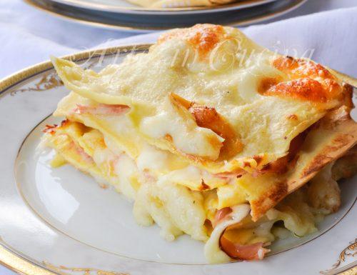 Lasagne al prosciutto provola e besciamella