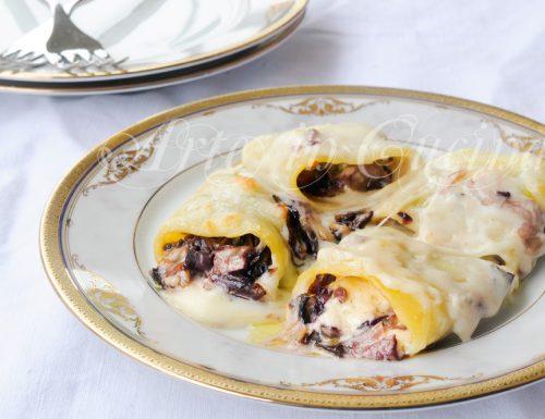 Paccheri radicchio e gorgonzola con besciamella