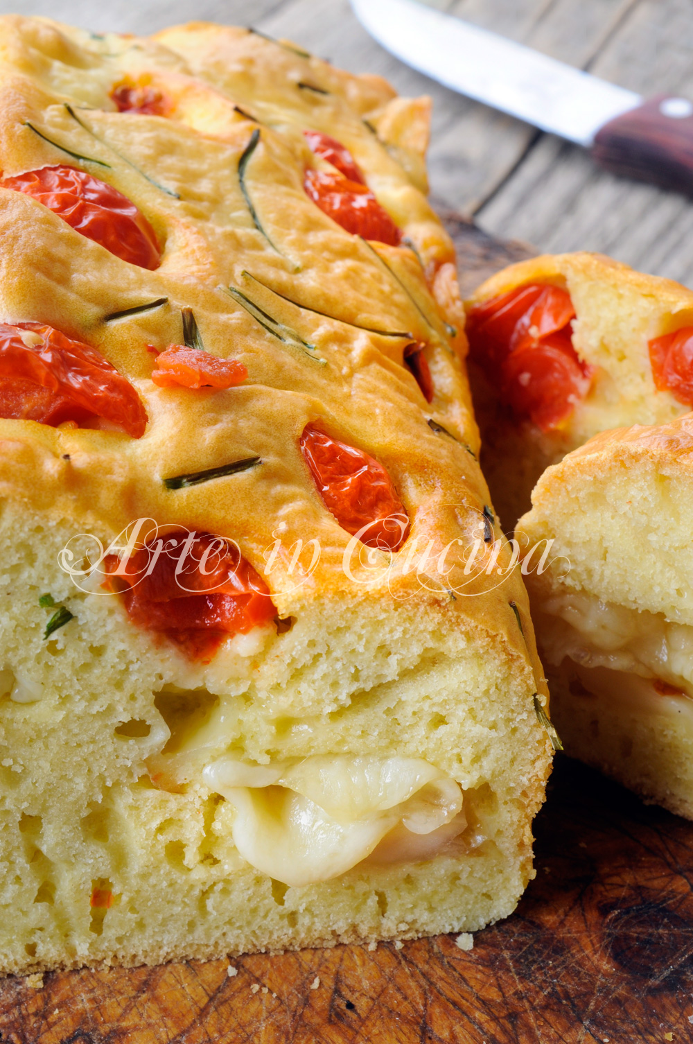 Plumcake al formaggio e pomodorini ricetta veloce vickyart arte in cucina
