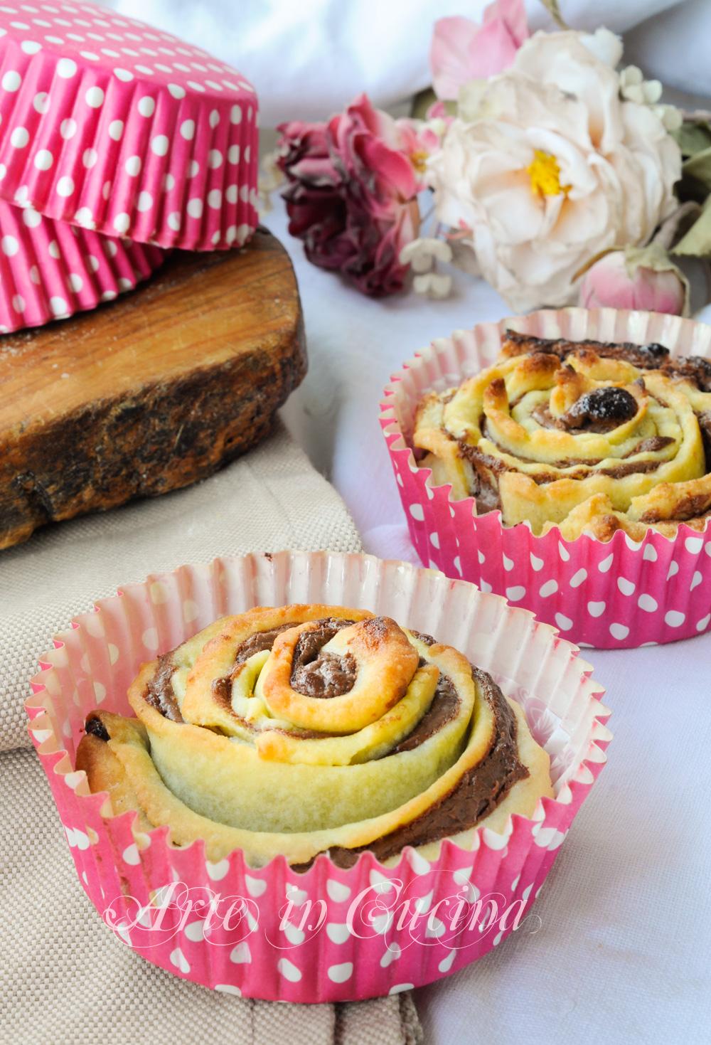 Rose di frolla alla nutella ricetta dolce facile arte in cucina - Cucina macrobiotica dolci ...