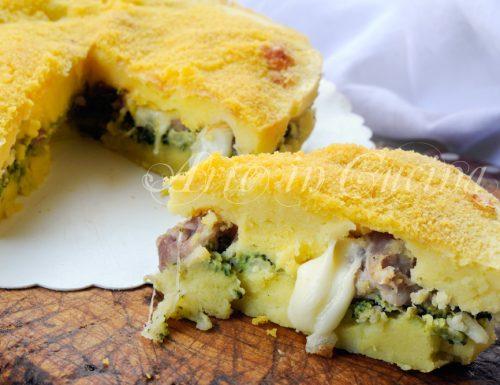 Sformato di patate broccoli e salsiccia