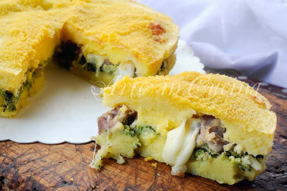 Sformato di patate broccoli e salsiccia vickyart arte in cucina