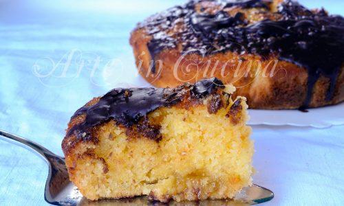 Torta morbida arancia e cioccolato ricetta veloce