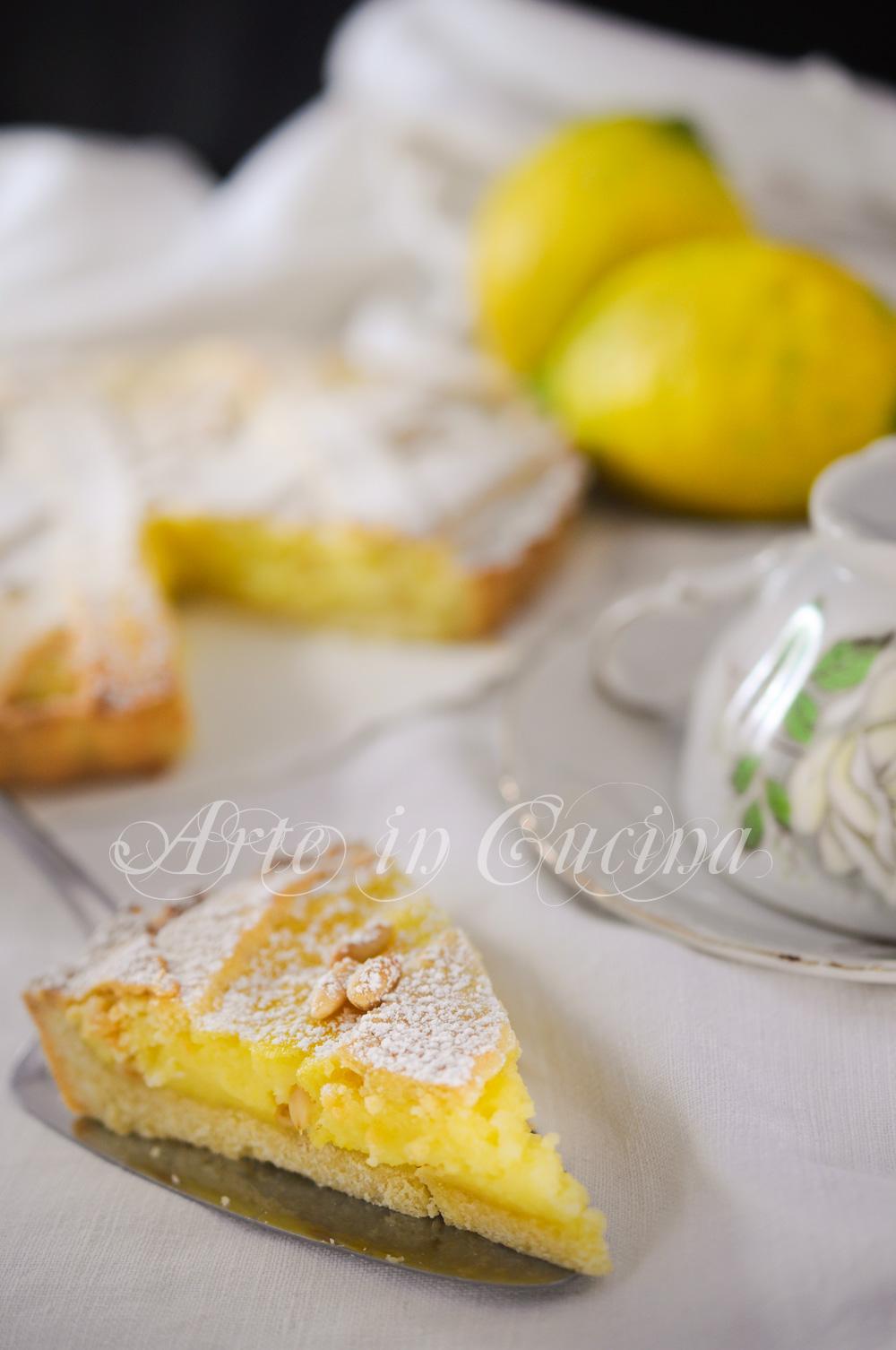 Torta di pinoli ricetta napoletana facile e veloce vickyart arte in cucina