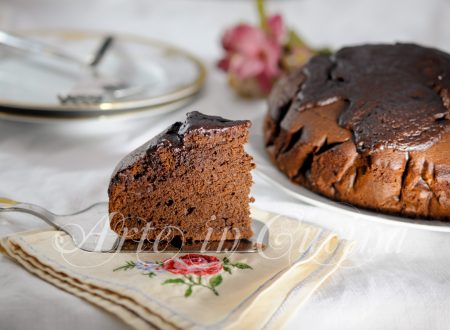 Torta ricca al cioccolato fondente e gianduia