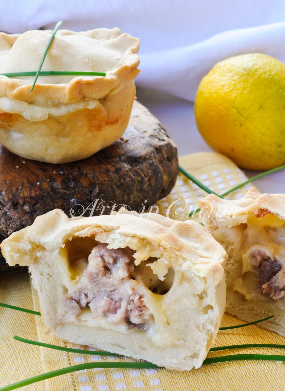 Tortine salsiccia e provola finger food veloci vickyart arte in cucina