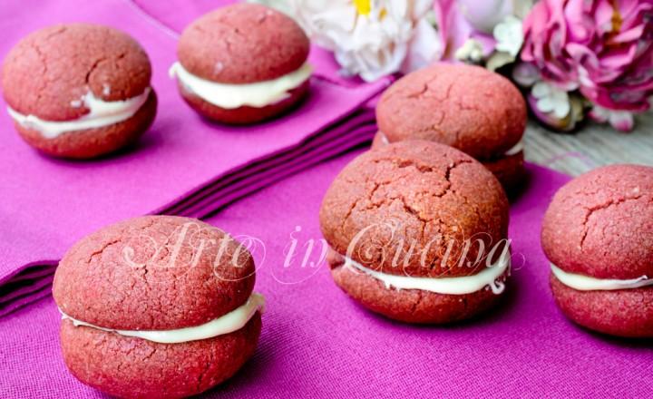 Baci red velvet biscotti al cioccolato bianco