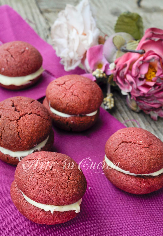 Baci red velvet biscotti al cioccolato bianco vickyart arte in cucina