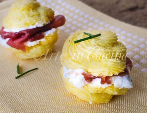 Baci di patate con stracchino e bresaola