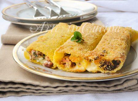 Cannelloni fritti ripieni ricetta sfiziosa