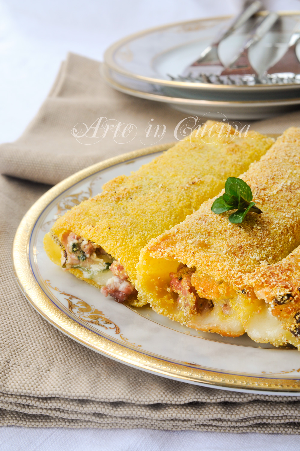 Cannelloni fritti ripieni ricetta sfiziosa vickyart arte in cucina