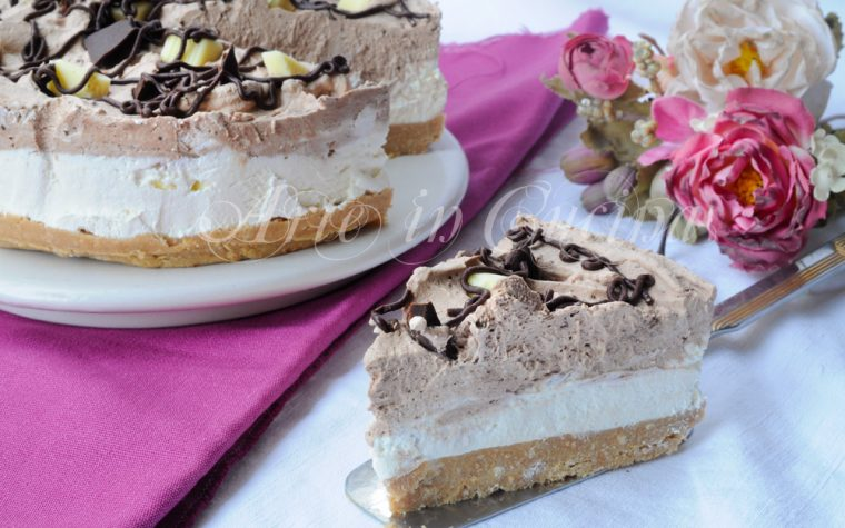 Cheesecake al doppio coccolato senza forno