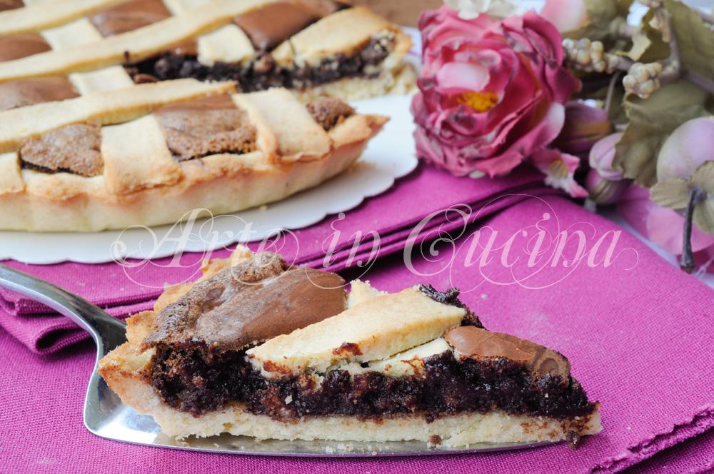Crostata delizia al cioccolato facile e veloce vickyart arte in cucina