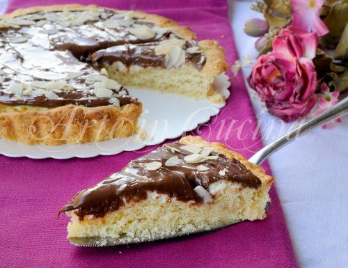 Crostata nutella con ricotta e mascarpone morbida
