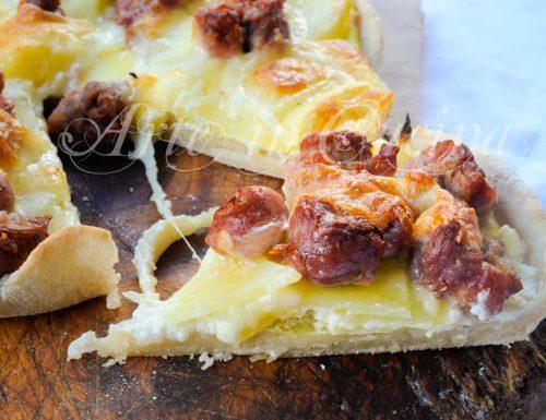 Crostata salsiccia stracchino e patate senza burro