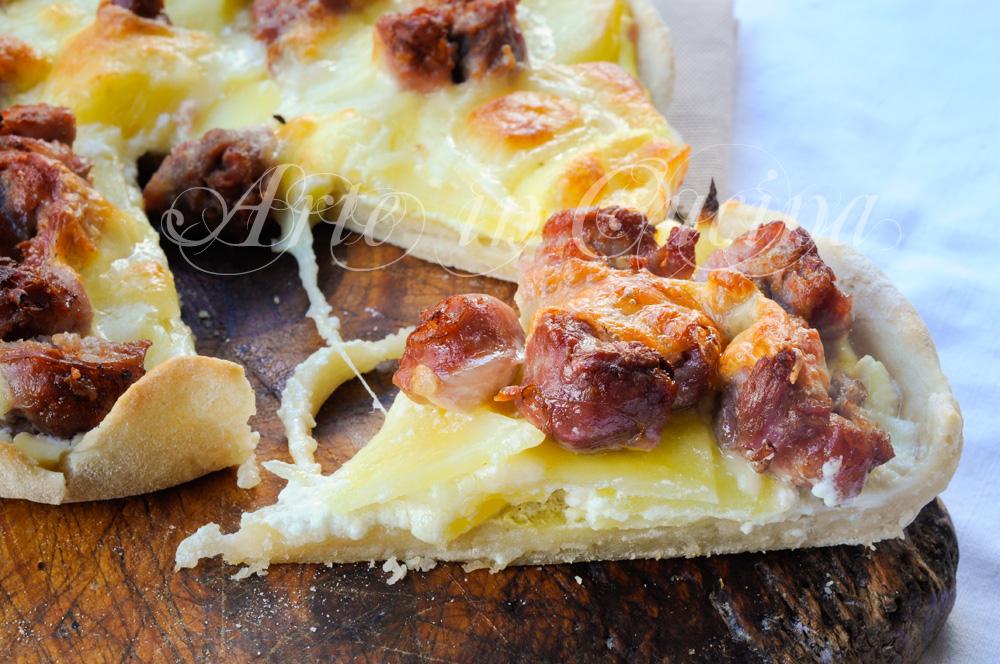 Crostata salsiccia stracchino e patate senza burro vickyart arte in cucina