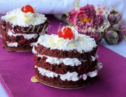 Torte monoporzioni per S.Valentino ricetta facile