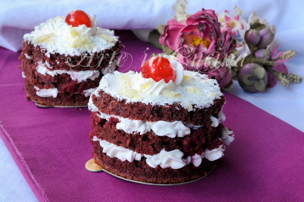 Torte monoporzioni per S.Valentino ricetta facile vickyart arte in cucina