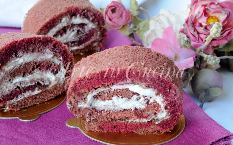 Girelle alla panna e cioccolato red velvet