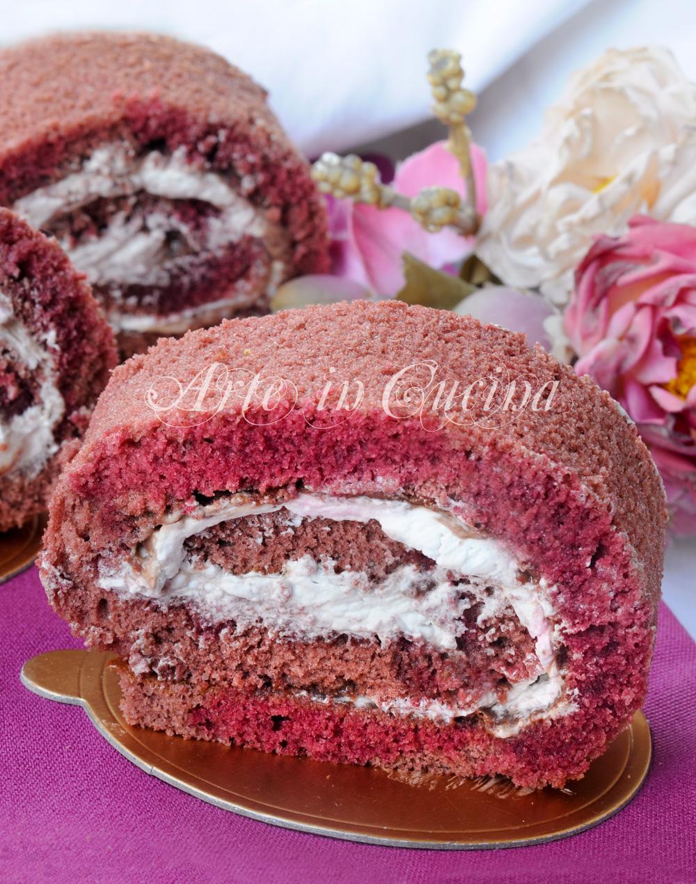 Girelle alla panna e cioccolato red velvet vickyart arte in cucina