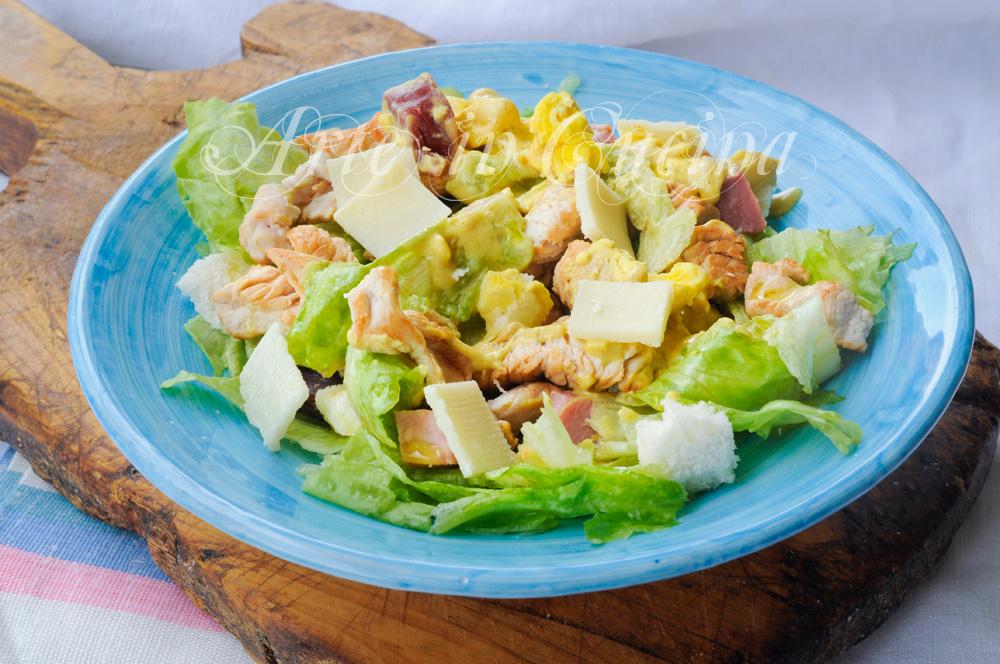Pranzo Proteico Veloce : Insalata di pollo e parmigiano ricetta veloce