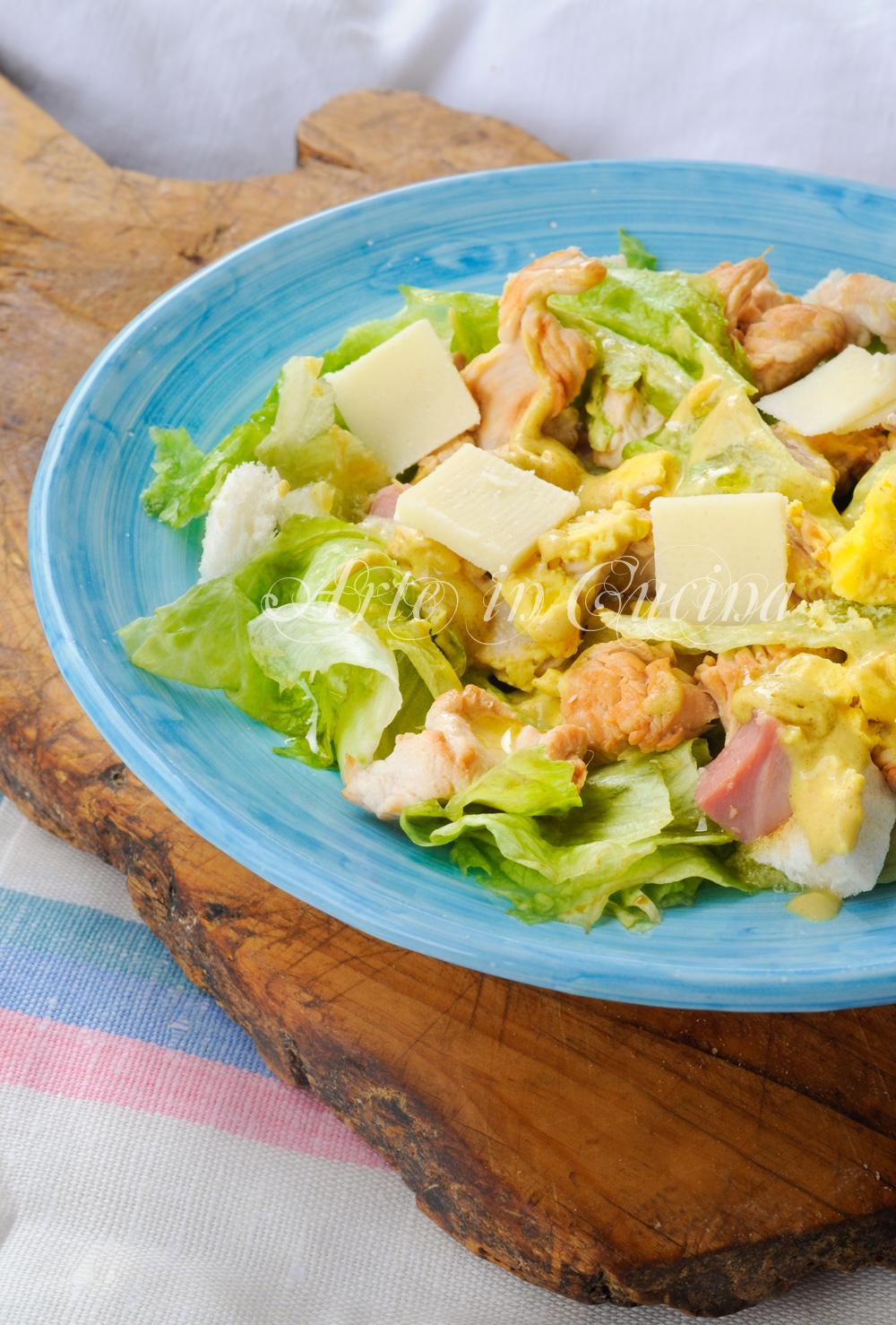 Insalata di pollo e parmigiano ricetta veloce arte in cucina for Cucina veloce e semplice