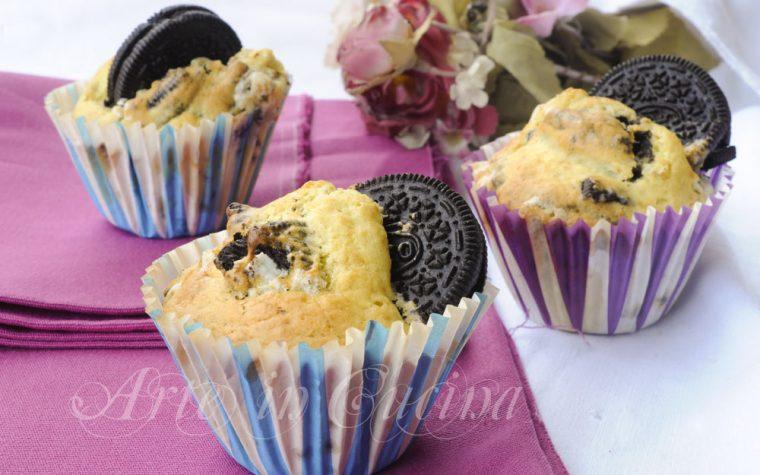 Muffin al mascarpone e oreo facili e veloci