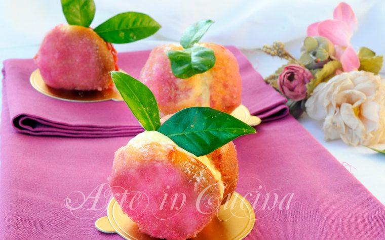 Pesche dolci di Prato alla crema ricetta facile