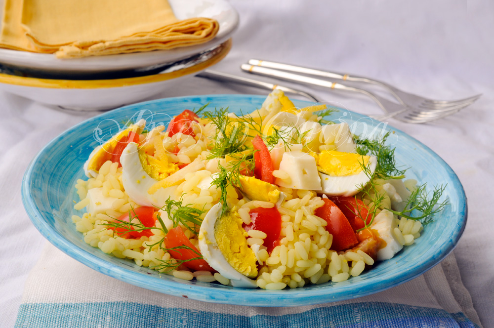 Riso freddo allo zafferano e limone ricetta facile vickyart arte in cucina