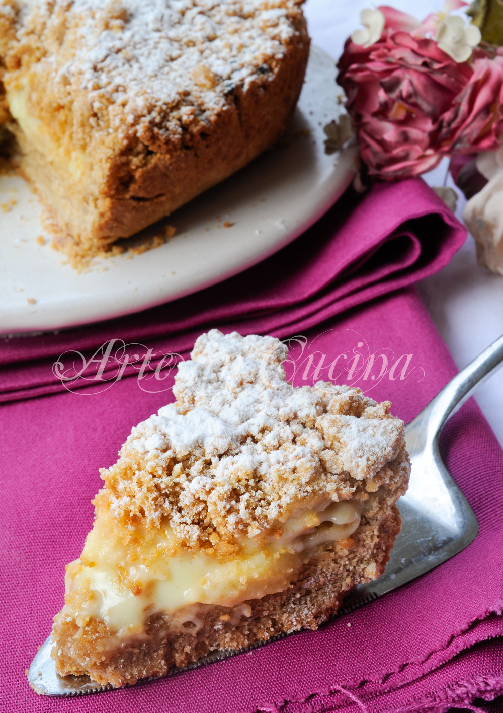 Préférence Torta con biscotti secchi alla crema di limone e mele | Arte in Cucina DG49