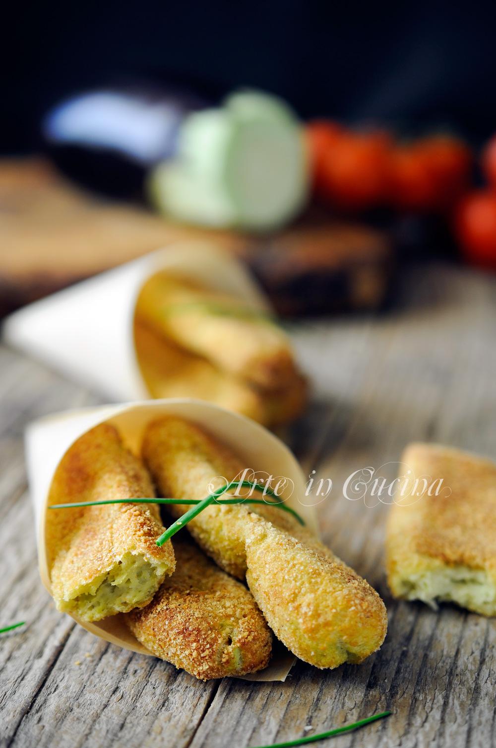Bastoncini di melanzane e formaggio al forno vickyart arte in cucina
