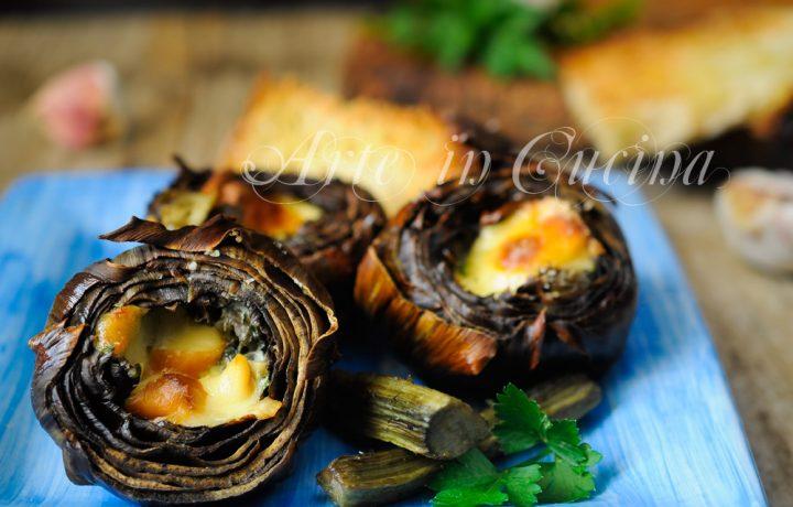 Carciofi al forno ripieni ricetta facile e veloce