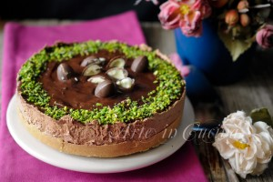 Cheesecake cioccolato e pistacchi ricetta veloce