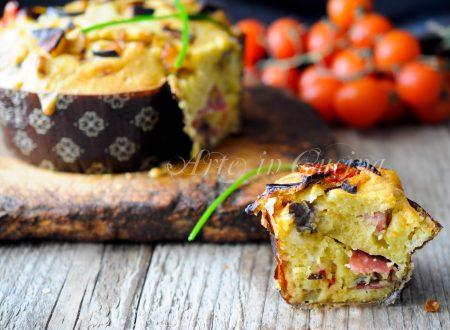 Colomba rustica con melanzane salame e provola