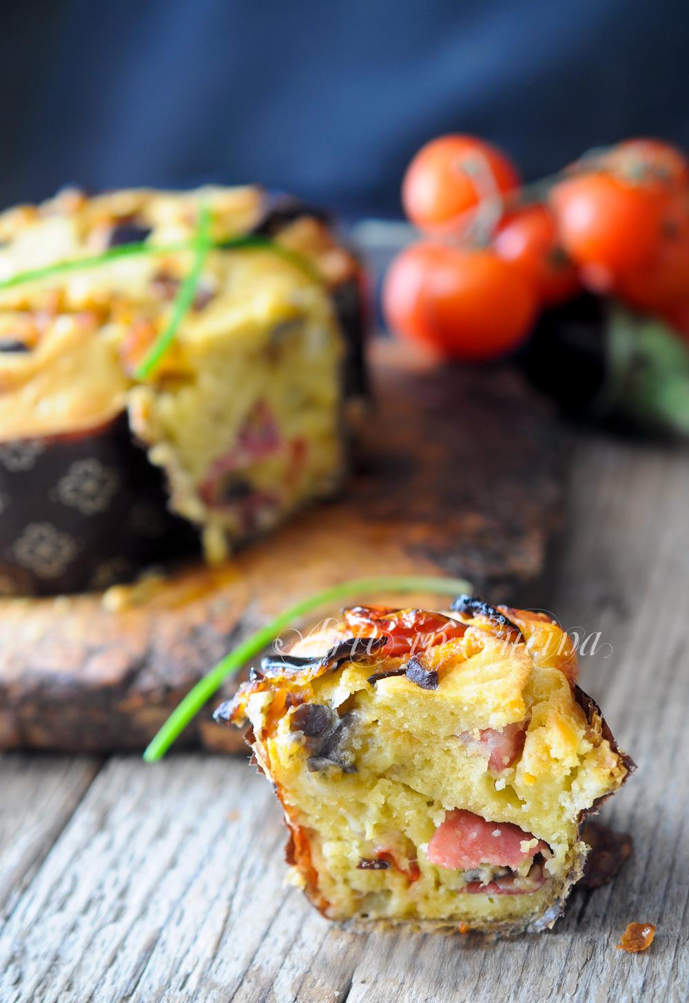 Colomba rustica con melanzane salame e provola vickyart arte in cucina