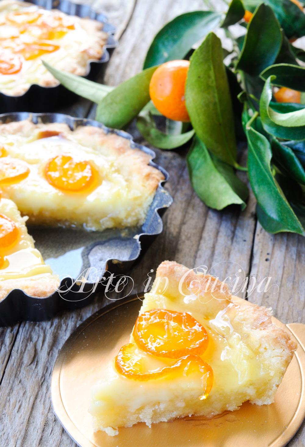 Crostatine crema e kumquat caramellati ricetta facile vickyart arte in cucina