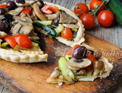 Crostata di verdure saltate in padella facile e veloce