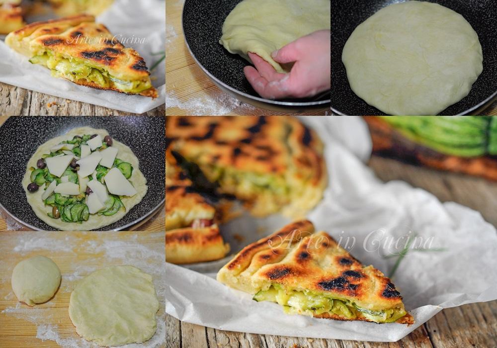 focaccia-rustica-zucchine-provola-in-padella-ricetta-senza-uova-lievito-11a