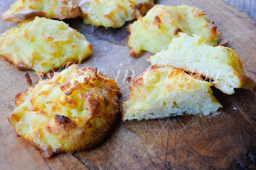 Frittelle patate e formaggi al forno senza burro e olio vickyart arte in cucina