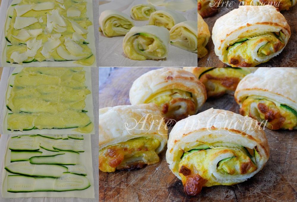 Girelle sfogliate con zucchine e patate sfiziose vickyart arte in cucina