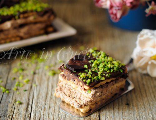 Mattonella biscotti cioccolato ricotta e panna