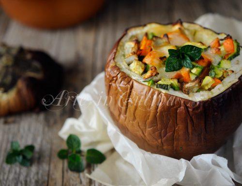 Melanzane tonde ripiene con verdure ricetta leggera