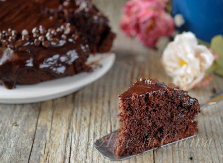 Mud cake al cioccolato con glassa torta veloce